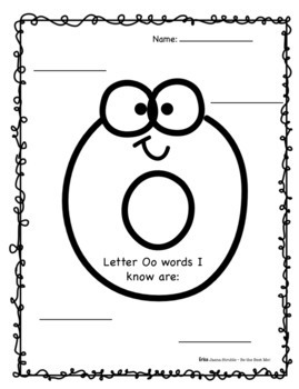 Alphabet Journal  M-P PLUS Graphic Organizers! Whole Class & Individual Work