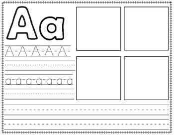 abc writing paper The handwriting worksheets below include practice letters on ruled lines in the zaner bloser style you'll notice that the letters include straight lines a.