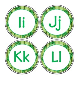 Alphabet Jungle Themed Letters Uppercase and Lowercase together