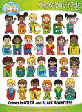 Alphabet Kid Characters Clipart {Zip-A-Dee-Doo-Dah Designs}
