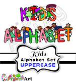 Alphabet Kids Cartoon Font Clip Art