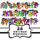 Alphabet Kids Cartoon Font Clip Art
