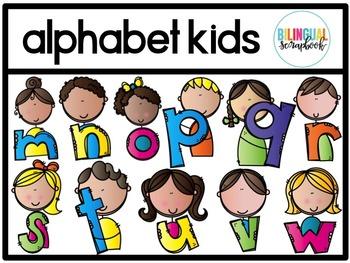 Alphabet Kids Clip Art