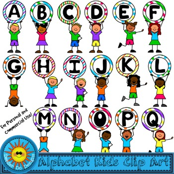 Alphabet Kids Clip Art - Uppercase