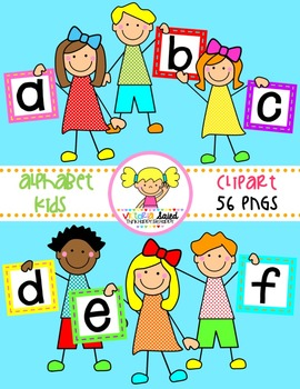 Alphabet Kids Clipart