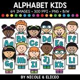 Alphabet Kids Clipart