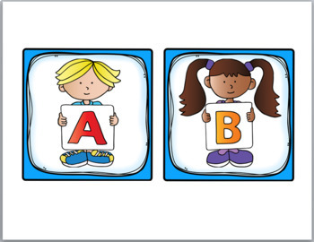 Word Wall Headers (Includes Spanish Letters) - Alphabet Kids Classroom Decor