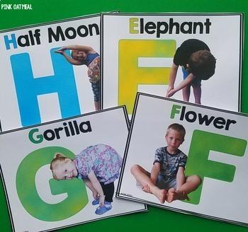 Alphabet Kids Yoga Cards