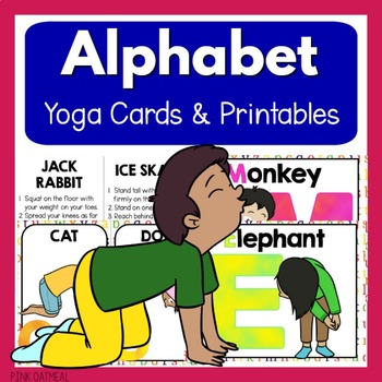 alphabet kids yoga cardspink oatmeal movement for the