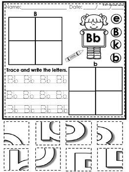 Alphabet Letter Puzzle (Kindergarten | Back to School Activities)