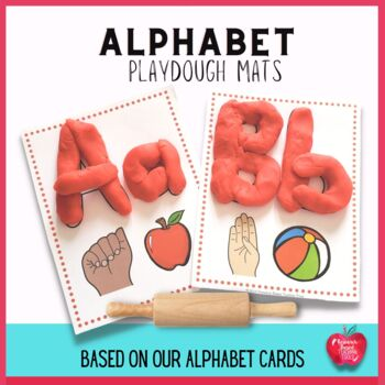 Alphabet Play Dough Cards..(Great with our Alphabet Book)