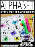 Alphabet Kitty Cat Search Sheets