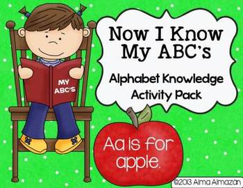 Alphabet Knowledge Activity Pack- Now I Know My ABC's