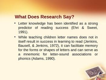 Alphabet Knowledge PowerPoint Presentation
