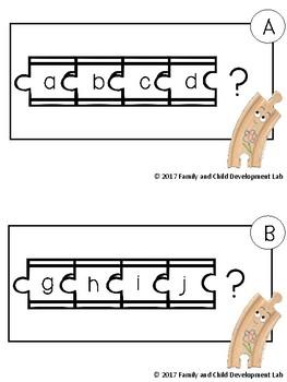 Alphabet Knowledge and CVC Words using Train Tracks-