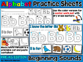 Alphabet LETTER TRACING & BEGINNING SOUNDS WORKSHEETS & WORK MATS