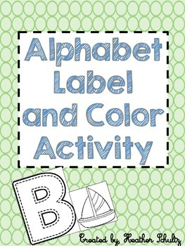 Alphabet Label and Color activity