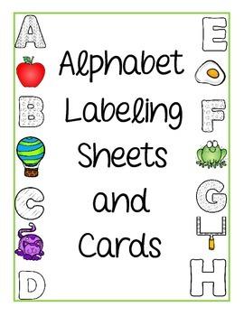 Alphabet Labeling Activities