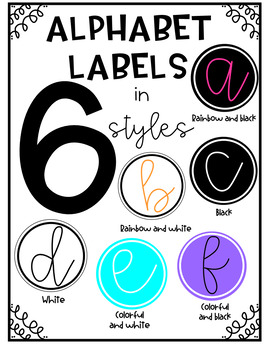 Alphabet Labels