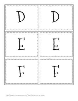 Alphabet Labels - Book Labels
