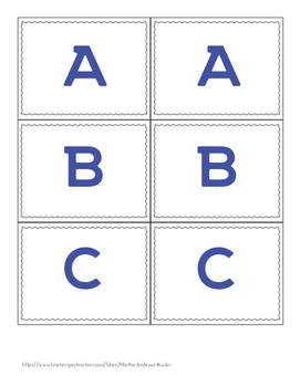Alphabet Labels-Large Letters