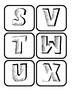 Alphabet Labels (Monochrome Comic style)