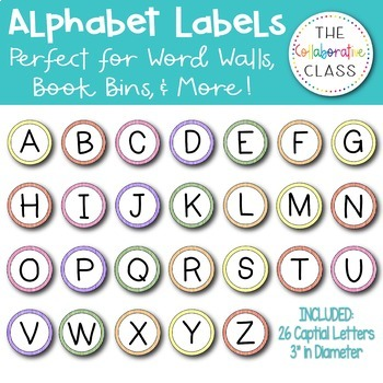 Alphabet Labels - {Perfect for Book Bins for Leveled Libra