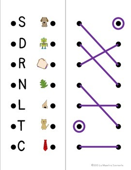 Alphabet Lacers: Beginning Sound to Letter Matching (Spanish and English)
