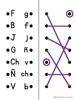 Alphabet Lacers: Uppercase to Lowercase Matching (Spanish and English)