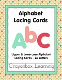 Alphabet Lacing Cards - 26 Upper and Lowercase Letters