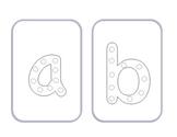 Alphabet Lacing Cards: Lower Case