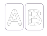 Alphabet Lacing Cards: Upper Case