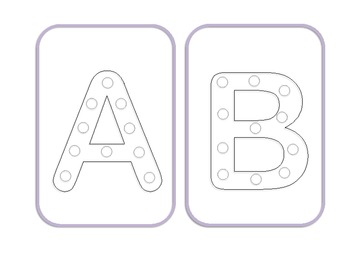 Alphabet Lacing Cards Upper Case By Mollymac Teachers Pay Teachers