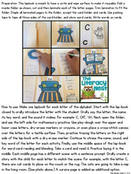 Alphabet Lapbooks Multisensory Phonics Orton-Gillingham