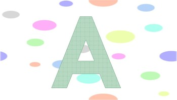 Alphabet Large Flash Cards, Wall Posters