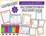 Alphabet Bundle Learn to Draw with Shapes Directed Drawings