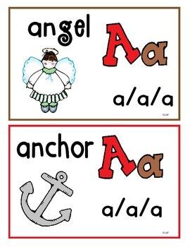 Alphabet Learning Cards Aa thru Mm