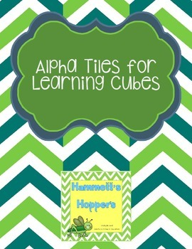 Alphabet Learning Cubes
