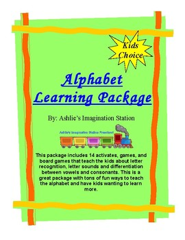 Alphabet Learning Package