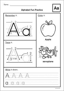 Alphabet Learning Sheet (ABC)