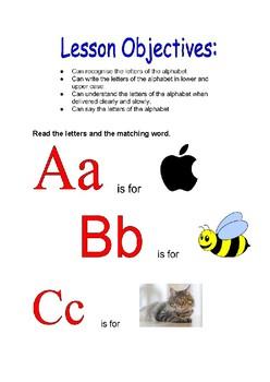 Alphabet Lesson