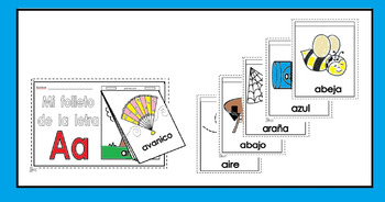 Alphabet-Letra Aa Spanish Mini-booklet