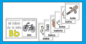 Alphabet-Letra Bb Spanish Mini-booklet