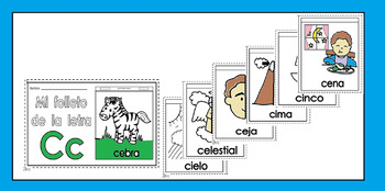 Alphabet-Letra Cc /s/ Spanish Mini-booklet