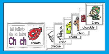 Alphabet-Letra Ch Spanish Mini-booklet