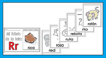 Alphabet-Letra Rr Spanish Mini-booklet