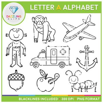 Alphabet Letter A Clip Art - Beggining Sounds