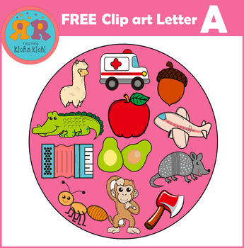Alphabet Letter A Clip Art FREE