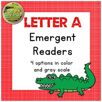 Alphabet Letter A Emergent Reader Set