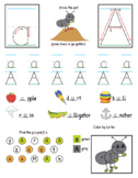 Alphabet/Letter A Worksheet